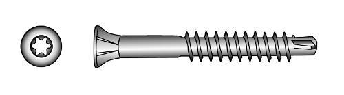 FAST-Drill countersunk head timber screws, TX-six lobe drive