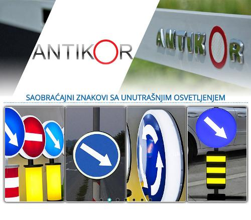 Traffic signs with interior LED lighting