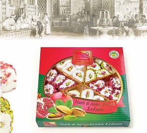 TURKISH DELIGHT WITH POMEGRANATE-PISTACHIO