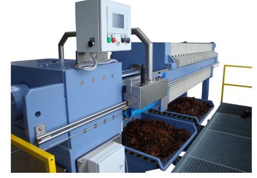 Konventionelle mechanisierte Kammerfilterpresse bis 15 bar
