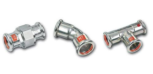 Carbon steel piping system SANHA®-Therm Industry