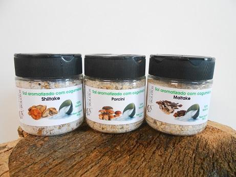 Sal Aromatizado com Cogumelos
