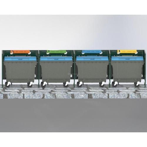 Cache Poubelle Conteneur Quadruple Automne Recyclage