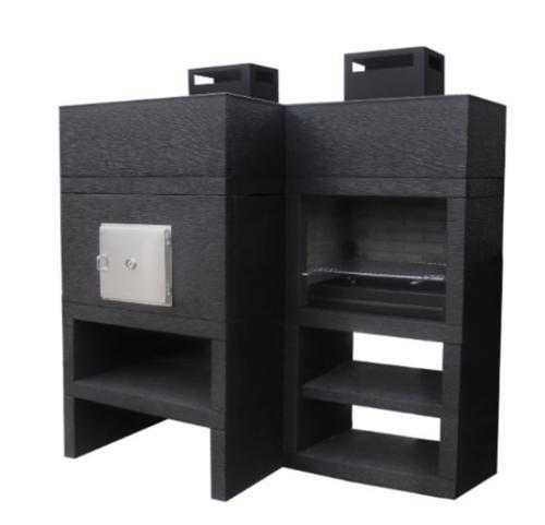 Churrasqueira e forno design moderno