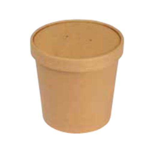 Pappbehälter Kraft PE-laminiert, optional mit Deckel