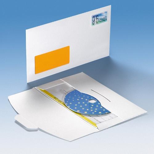 CD Mailer mit Fenster - Steckverschluss