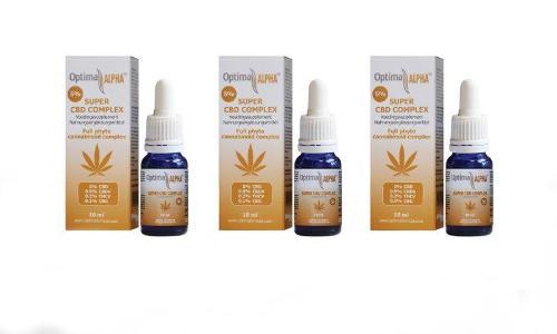 Alpha Cbd Oil (cannabinoids Complex) 5% 3 X 10 Ml + Free Optima Cbd 4% 10 Ml