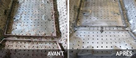 Cleaning factory installations by dry ice blasting