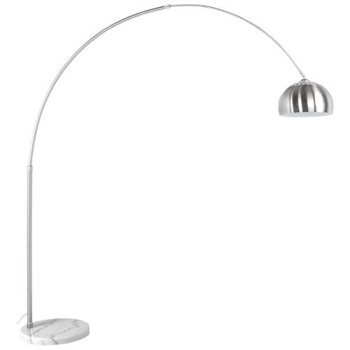 Lampe sur pied design WILSON acier brossé (acier brossé)