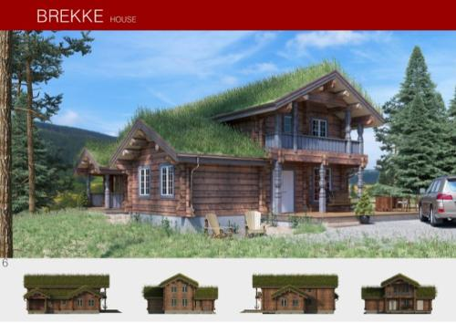 Prefabricated wooden house BREKKE