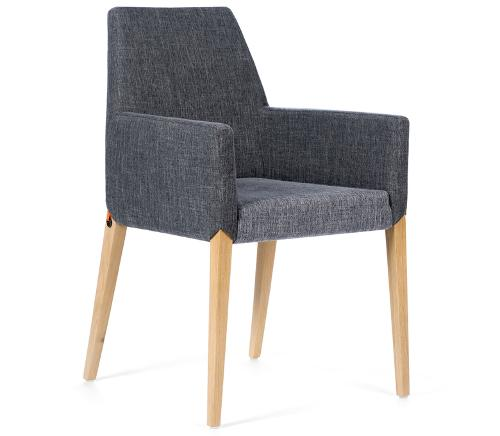 Mobitec - Chaise Sweet bicolore avec accoudoirs