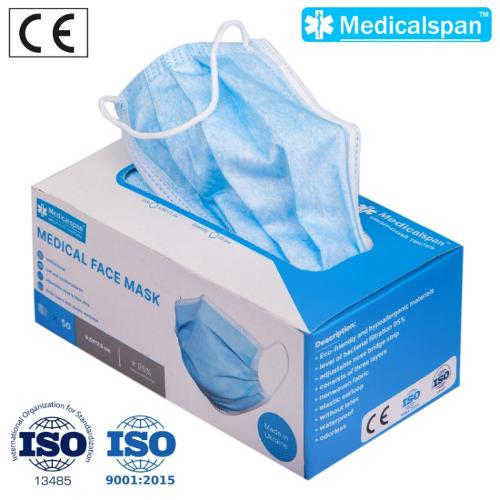 DISPOSABLE FACE MASK MEDICAL  3-PLY Medicalspan™