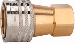 Hydraulic coupling, Series A, I.D. 13, Brass, G 1/2 IT