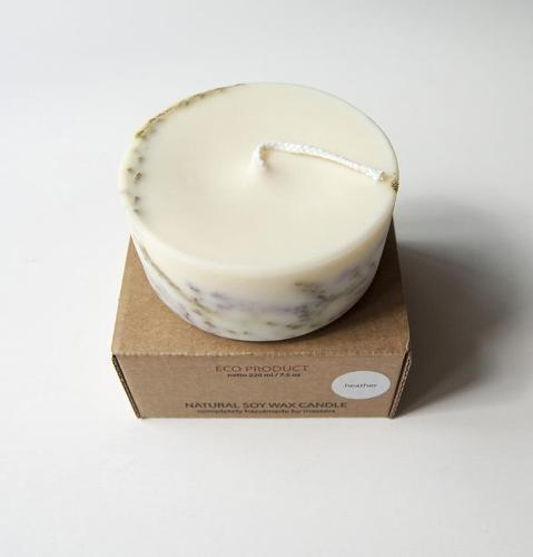 "Heather, Scented Soy Wax Candle ""5 SENSES"""