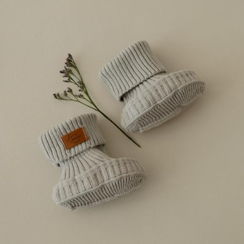 Booties knitted from cotton Silver