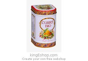 Curry Bio en Poudre Boite Métal