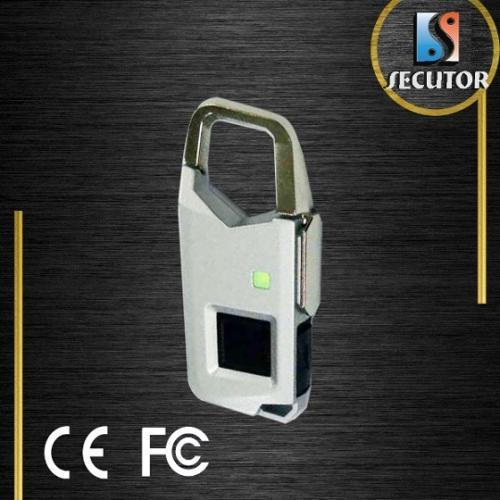 Silver Color Fingerprint Travel Bag Luggage Lock