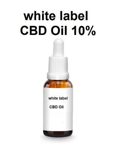 etichetta bianca olio di CBD 10%