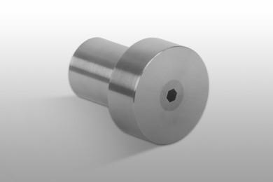 Metallo duro assemblato in un contenitore di acciaio