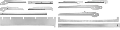 Packaging and composite material knives