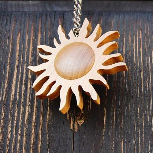 Wooden Beaming Sun Decoration