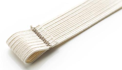 Braided elastic harness