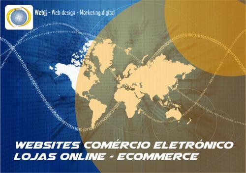 websites de comércio electrónico, lojas online, ecommerce