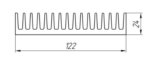 Aluminum Profile For Cooling Radiators Ат-2345