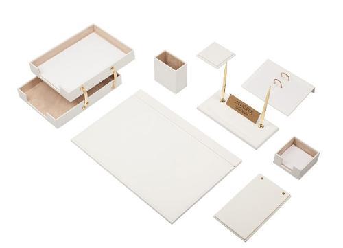 Leather Desk Set 10 Pieces - Guner Ofis