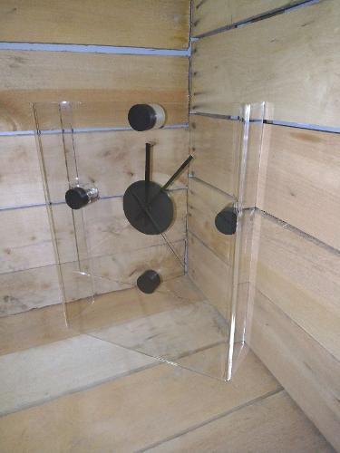 orologio di design in cristallo acrilico