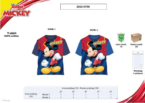 TEE-SHIRT MANCHES COURTES - MICKEY