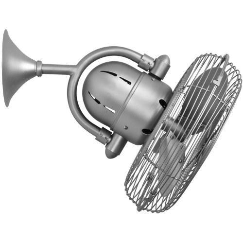 CASA BRUNO Kaye ventilador oscilante de pared y techo, níque