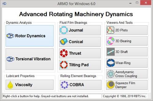 ARMD - Rotordynamic Software