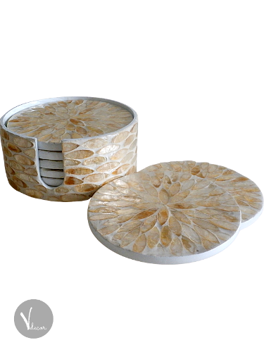 Mosaic Mother of Pearl Lacquer Coasters