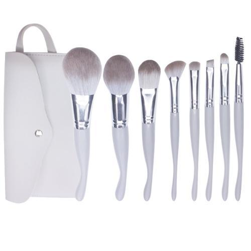 8PCS Seahorse Grey Makeup Brush Set for Makeup Beginner, Mcf