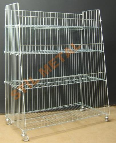 Moving Wire Basket Display rack
