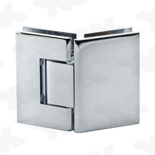 Shower door hinge glass-glass 135°, opening on both sides