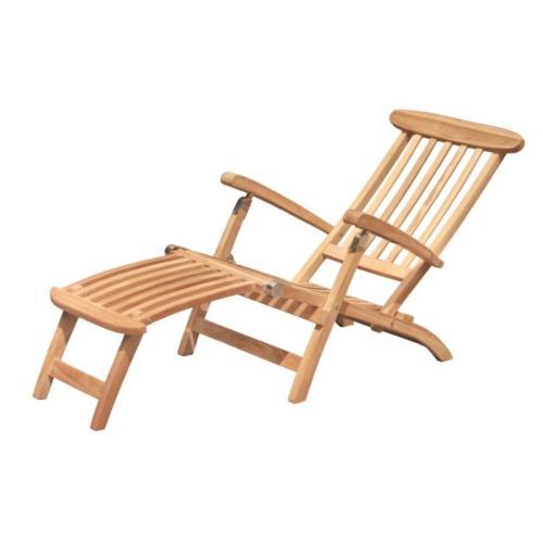 teak houten ligbed deckchair