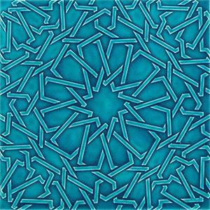 selçuklu modeli rölyefli porselen çini