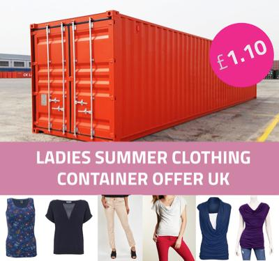 CONTAINER DEAL: Ladies clothing wholesale UK