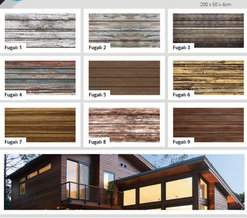 Jointed wood patterned coating EPS panels