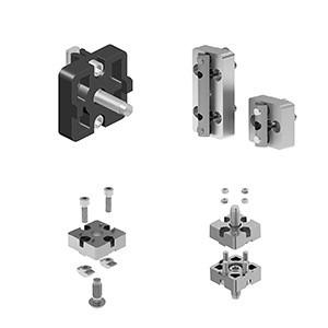 Plate Connector for aluminium profile assembly
