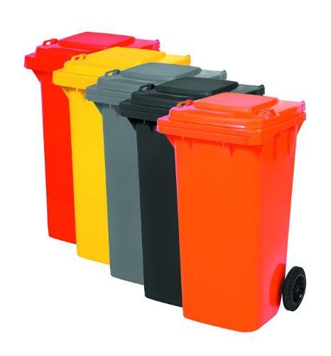 Çöp Konteyneri 120 Litre Renkli