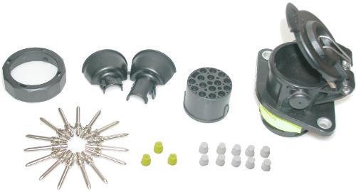 Socket ISO 12098 15-p.GGVS/str.Baj.24V