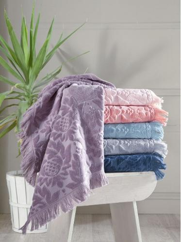 %100 Cotton Velvet Hand Towel Set & Bath Towel Set