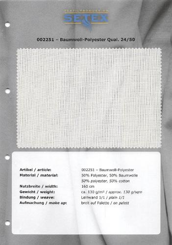 Cotton-Polyester Qual. 24/50
