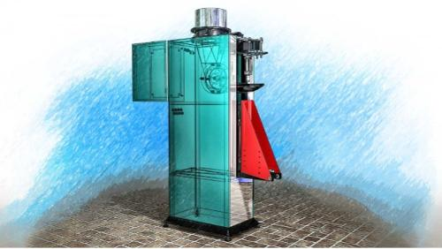 Weighing batcher with rotary filler in valve bags