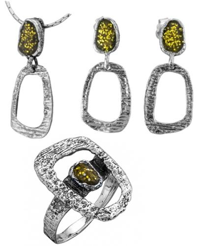 Sterling Silver 925 Set with Enamel for wholesale
