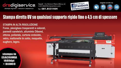 stampa diretta UV LED su pannelli