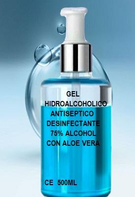 Gel Desinfectante Hidroalcoholico 500ml